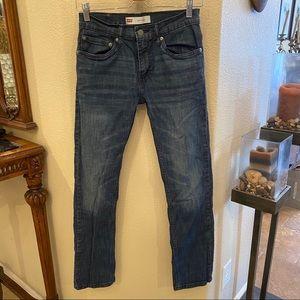 LEVI'S 511 Blue Denim Jeans Size 16Reg